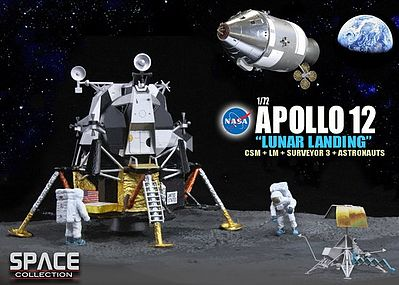 Apollo 12 Lunar Landing Diecast Model Spacecraft 1/72 Scale #50387