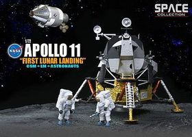 DGW Apollo 11 1st Lunar Landing Diecast Model Spacecraft 1/72 Scale #50391