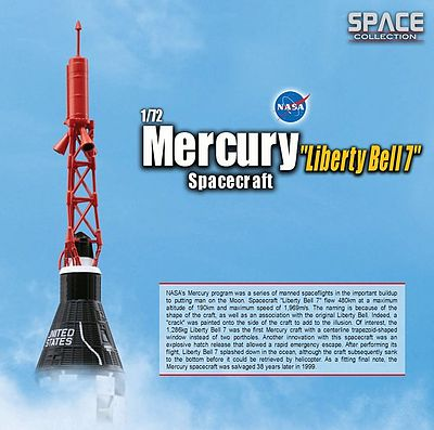 Dragon Wings Mercury Liberty Bell 7 -- Diecast Model Spacecraft -- 1/72 Scale -- #50393