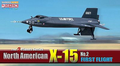 DGW North American X-15 #2 Diecast Model Airplane 1/144 Scale #51032
