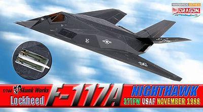 DGW Lockheed F-117A 37TFW USAF Diecast Model Airplane 1/144 Scale #51051