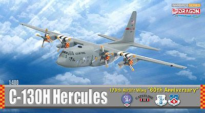 Dragon Wings C-130H Hercules 179th AW -- Diecast Model Airplane -- 1/400 Scale -- #56276