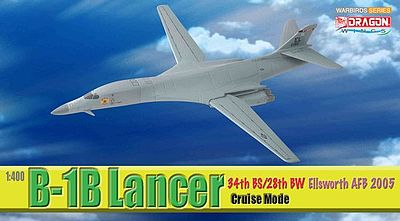 Dragon Wings B-1B 34th BS/28th BW -- Diecast Model Airplane -- 1/400 Scale -- #56313
