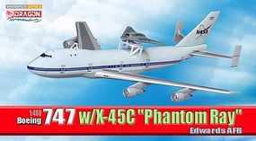 DGW Boeing 747 with x-45c Diecast Model Airplane 1/400 Scale #56330