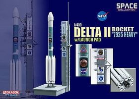 DGW Delta II Rocket 7925 Heavy Diecast Model Spacecraft 1/400 scale #56339
