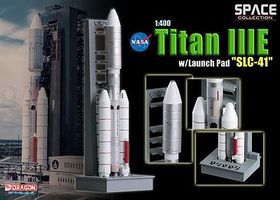 DGW TITAN IIIE with Launch Pad SLC-41 Diecast Model Spacecraft 1/400 scale #56342