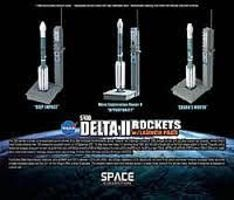 DGW Delta II Rockets Diecast Model Spacecraft 1/400 Scale #56394