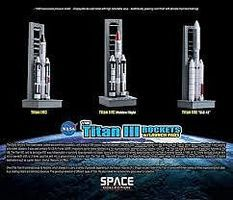 DGW Titan III Rockets with Pads Diecast Model Spacecraft 1/400 Scale #56395