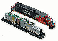 Digitrax DN163K1C 1 Amp N Scale Mobile Decoder Model Railroad Electrical Accessory #5040
