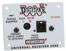 Digitrax LocoNet Duplex Transceiver Panel Model Railroad Electrical Accessory #ur92