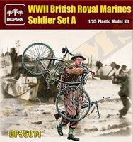 Diopark 1/35 WWII British Royal Marine Soldier Carrying Bicycle & Rifle