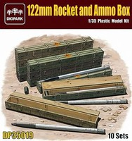 Diopark 1/35 122mm Rockets & Ammo Boxes (10) (New Tool)