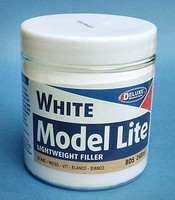 Deluxe-Materials Model Lite Wood Filler White 8.1oz  240ml