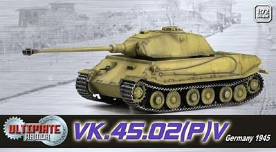 Dragon-Armor VK.45.02 GERMAN ULTIMATE Diecast Military Model Trucks, Planes, Tank 1/72 scale #60530
