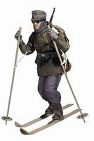 Dragon-Model-Figures Wilhem Engels Ski Troop Plastic Model Military Figure 1/6 Scale #70663