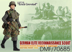 Dragon-Model-Figures Erich Grevstad Recon Scout Plastic Model Military Figure Kit 1/6 Scale #70685