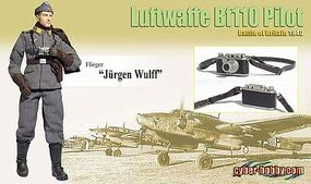 Dragon-Model-Figures Jurgen Wulf Bf110 Pilot Plastic Model Military Figure 1/6 Scale #70791