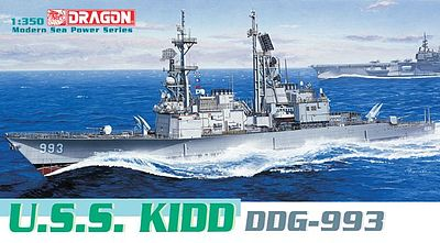 Dragon Models USS Kidd (DDG-993) -- Plastic Model Destroyer -- 1/350 Scale -- #1014