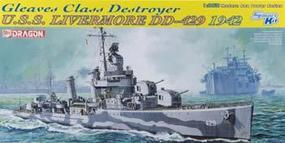 DML USS Livermore Gleaves Class DD429 Destroyer 1942 Plastic Model Military Ship 1/350 #1027