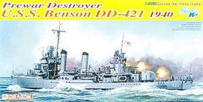 DML USS Benson DD421 USN Destroyer 1940 Plastic Model Military Ship Kit 1/350 Scale #1034