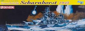 DML German Battleship Scharnhorst 1943 Plastic Model Military Ship 1/350 Scale #1040