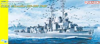 Dragon Models USS Chevalier DD-805 1945 Gearing Destroyer -- Plastic Model Military Ship Kit -- 1/350 -- #1046
