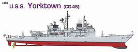 DML USS Yorktown CG48 Cruiser & Alfa Class Submarine Plastic Model Military Ship 1/350 #1048