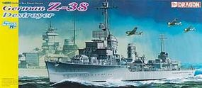 DML German Z38 Destroyer Plastic Model Military Ship Kit 1/350 Scale #1049