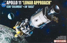 DML Apollo 11 Lunar Approach Space Program Plastic Model Kit 1/72 Scale #11001
