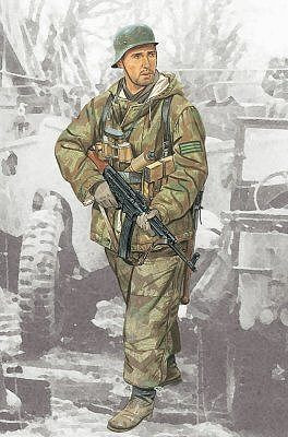 Dragon Models Feldwebel 352nd Volksgrenadier Division -- Plastic Model Military Figure -- 1/16 Scale -- #1629