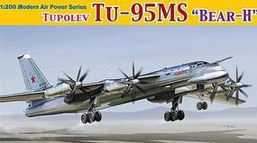 DML Tupolev Tu95MS Bear H Aircraft Plastic Model Airplane Kit 1/200 Scale #2014