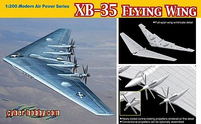 Dragon Models XB35 Flying Wing USAF Experimental Heavy Bomber -- Plastic Model Airplane Kit -- 1/200 -- #2017