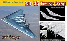 DML XB35 Flying Wing USAF Experimental Heavy Bomber Plastic Model Airplane Kit 1/200 #2017