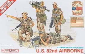 DML US 82nd Airborne Plastic Model Military Figure 1/35 Scale #3006