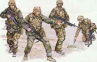 DML US 1st Infantry Division Plastic Model Military Figure 1/35 Scale #3015