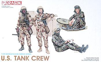 DML US Tank Crew Plastic Model Military Figure Kit 1/35 Scale #3020