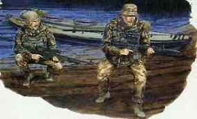 DML British SBS with Kayak Plastic Model Military Figure 1/35 Scale #3023