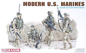 Dragon Models Modern US Marines (4) -- Plastic Model Military Figure -- 1/35 Scale -- #3027