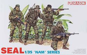 DML US Navy Seal Figure Set Plastic Model Military Figure 1/35 Scale #3302