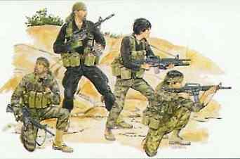 4 Figures NAM Series Dragon 1//35 3309 US Green Berets Vietnam War