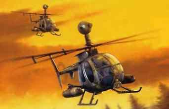 Dragon Models MD530G GUNSHIP -- Plastic Model Helicopter Kit -- 1/35 Scale -- #3526