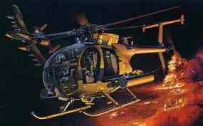 DML AH-6J Little Bird Night Stalkers Plastic Model Helicopter 1/35 Scale #3527
