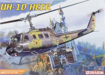 Dragon Models UH-1H HEER Helicopter -- Plastic Model Helicopter Kit -- 1/35 Scale -- #3542