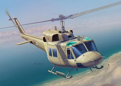 Dragon Models IAF UH-1N Helicopter w/IDF Paratroopers -- Plastic Model Helicopter Kit -- 1/35 Scale -- #3543