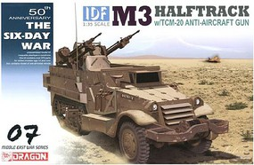 DML IDF M3 Halftrack w/TCM-20 Anti-Aircraft Gun Plastic Model Military Vehicle Kit 1/35 #3586