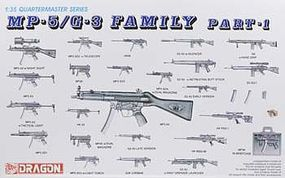 DML MP-5/G-3 Family Plastic Model Military Weapons 1/35 Scale #3803