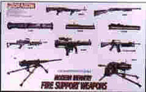 DML Modern Infantry Fire Support Weapon Plastic Model Military Weapons Kit 1/35 Scale #3808