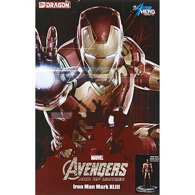 Dragon Models Age Of Ultron Iron Man with Tony Stark Head -- Plastic Model Bobblehead Kit -- 1/9 Scale -- #38155