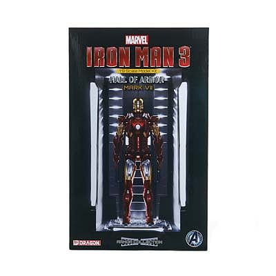 Dragon Models Iron Man 3 Hall of Armor Mark VII Model Kit -- Plastic Model Comic Figure -- 1/9 Scale -- #38336