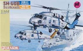 DML SH-60B Seahawk (2) Plastic Model Helicopter Kit 1/144 Scale #4600